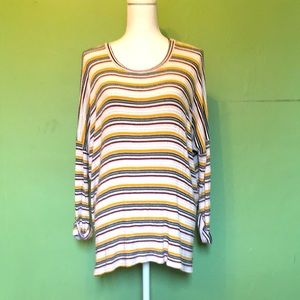 AUDREY oversized slouchy striped top